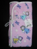 Pair of Pink Burp Cloths with Girls